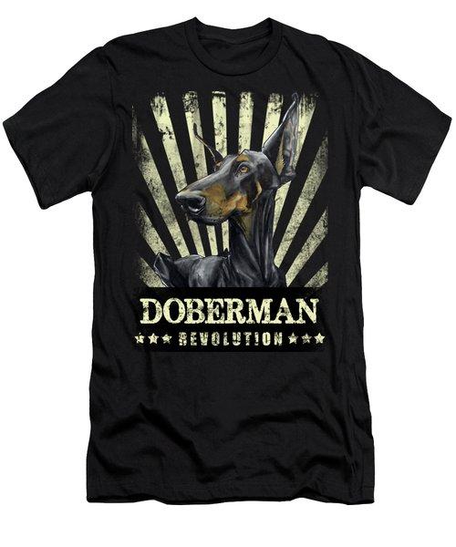 Doberman Revolution Men's T-Shirt (Athletic Fit)
