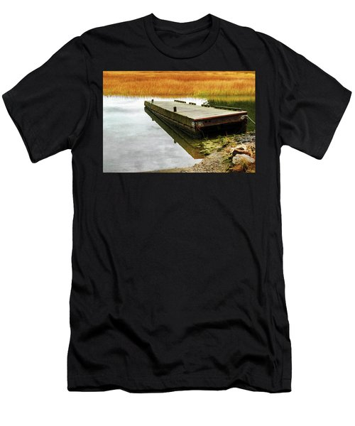 Men's T-Shirt (Athletic Fit) featuring the photograph Dock And Marsh by Tom Singleton