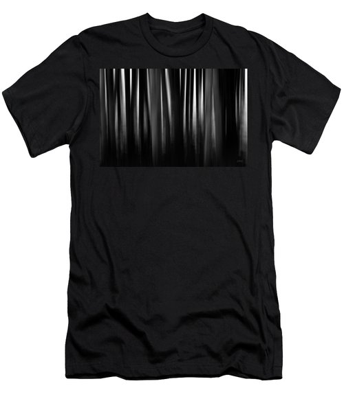 Men's T-Shirt (Athletic Fit) featuring the photograph Dock And Reflection II Bw by David Gordon