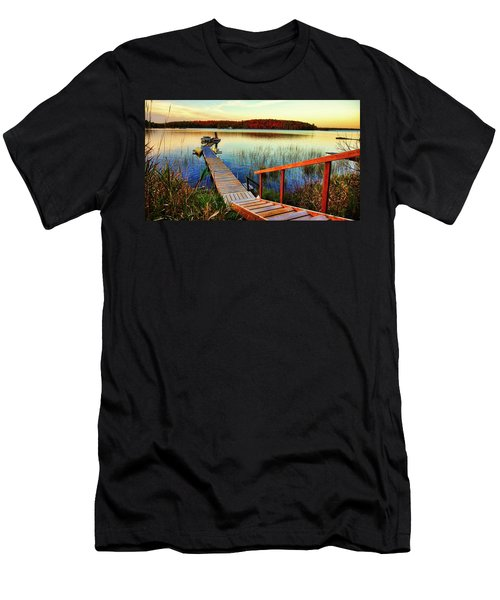 Dock At Gawas Bay Men's T-Shirt (Athletic Fit)