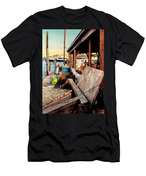 Docks At Port Aransas Men's T-Shirt (Athletic Fit)