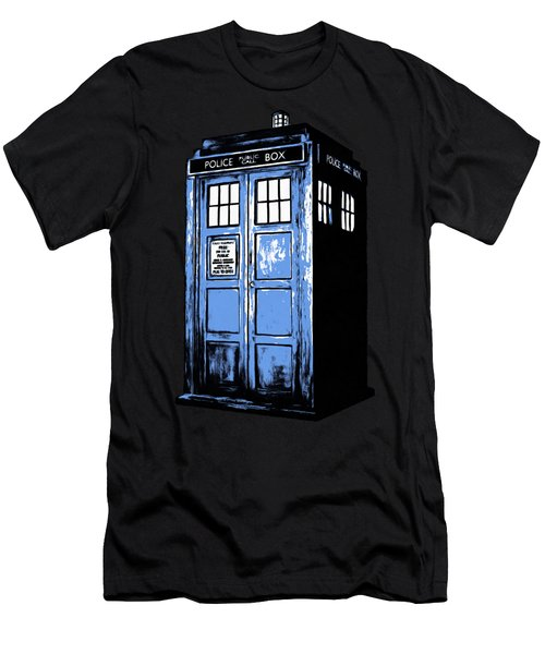 Doctor Who Tardis Men's T-Shirt (Slim Fit) by Edward Fielding