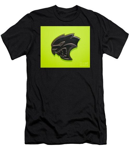Dodge Challenger Srt Hellcat Emblem Men's T-Shirt (Slim Fit) by Pamela Walrath
