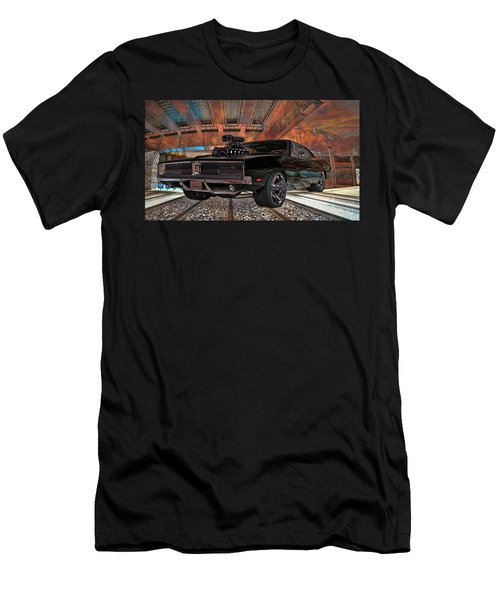 Men's T-Shirt (Slim Fit) featuring the photograph Dodge Charger R/t 1969 Hemi by Louis Ferreira