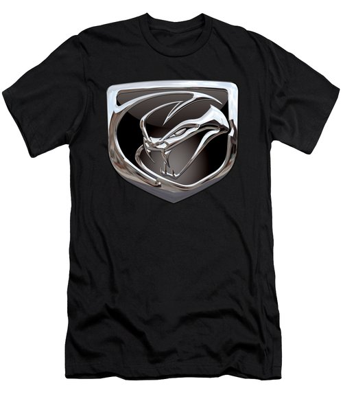 Dodge Viper - 3d Badge On Black Men's T-Shirt (Athletic Fit)
