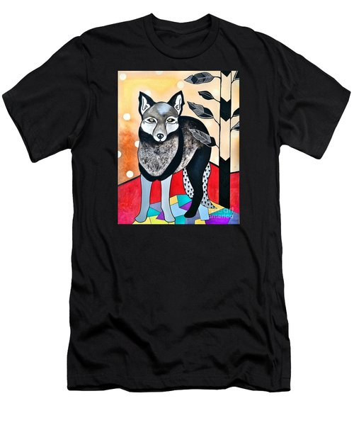 Men's T-Shirt (Slim Fit) featuring the painting Dog by Amy Sorrell
