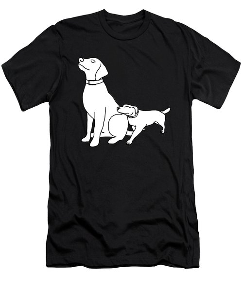 Dog Love Tee Men's T-Shirt (Athletic Fit)