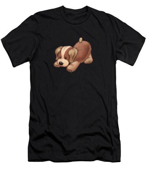 Dog Pounce Men's T-Shirt (Athletic Fit)