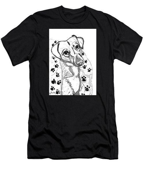 Dog Sketch In Charcoal 4 Men's T-Shirt (Athletic Fit)