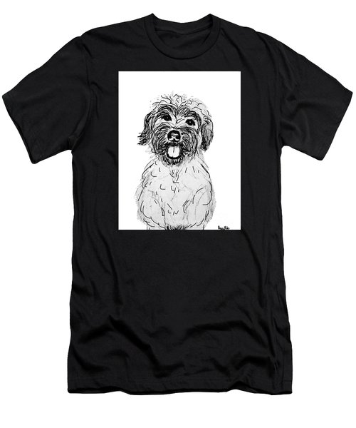 Dog Sketch In Charcoal 6 Men's T-Shirt (Athletic Fit)