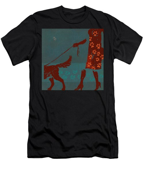 Dog Walker Men's T-Shirt (Athletic Fit)