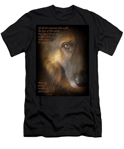 Dogs Chose Us Men's T-Shirt (Athletic Fit)