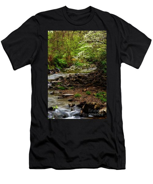Dogwood At The Bend Men's T-Shirt (Slim Fit) by Thomas R Fletcher