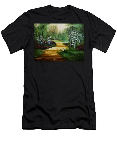 Dogwoods In Springtime Men's T-Shirt (Athletic Fit)
