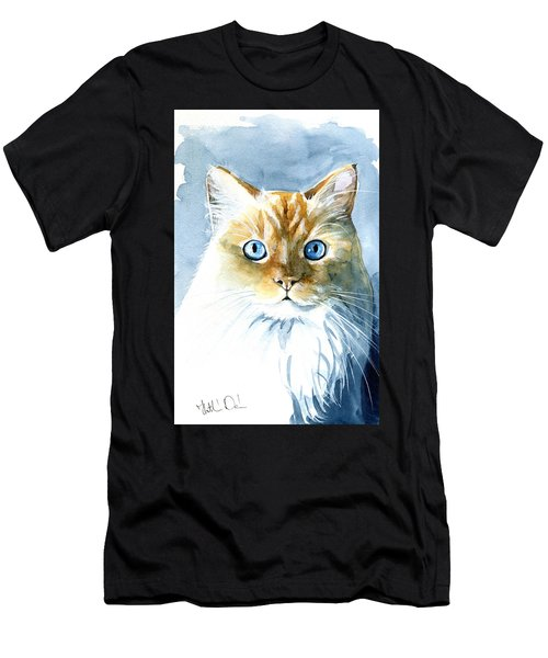 Doll Face Flame Point Himalayan Cat Painting Men's T-Shirt (Athletic Fit)