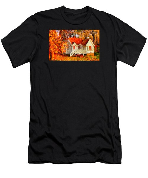 Doll House And Foliage Men's T-Shirt (Athletic Fit)