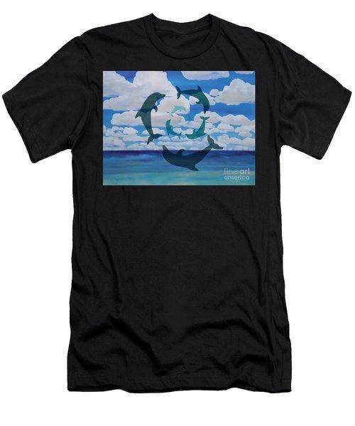 Dolphin Cloud Dance Men's T-Shirt (Athletic Fit)
