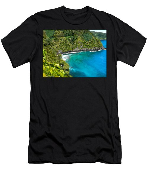 Men's T-Shirt (Slim Fit) featuring the photograph Dolphin Cove by Debbie Karnes
