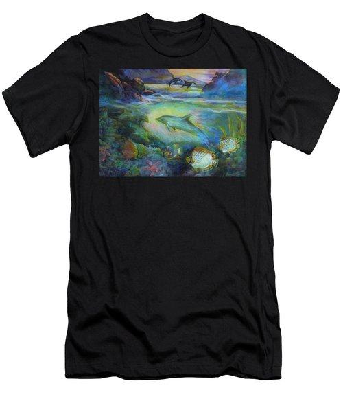 Dolphin Fantasy Men's T-Shirt (Athletic Fit)