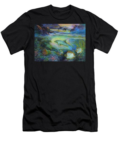 Dolphin Fantasy Men's T-Shirt (Athletic Fit)