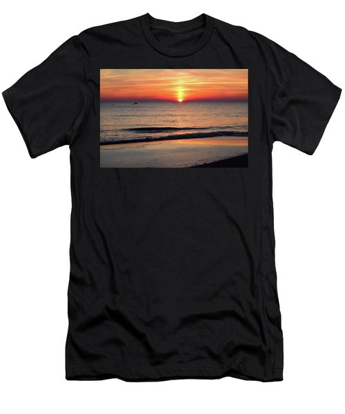 Dolphin Jumping In The Sunrise Men's T-Shirt (Athletic Fit)