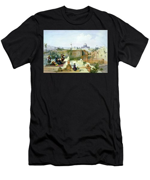 Dome Of The Rock In The Background Men's T-Shirt (Athletic Fit)