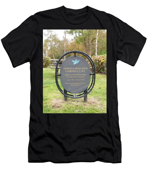 Men's T-Shirt (Athletic Fit) featuring the photograph Donald Campbell Memorial by JLowPhotos
