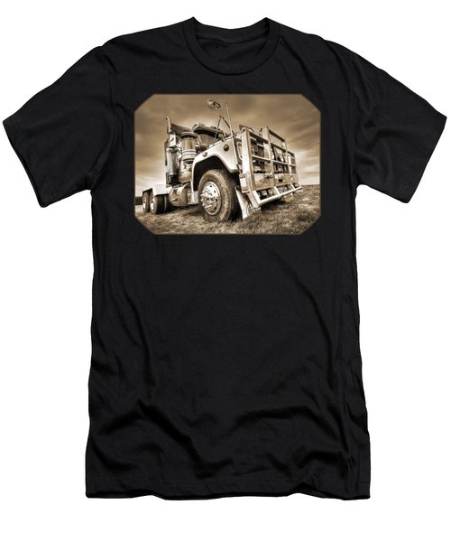 Done Hauling - Sepia Men's T-Shirt (Athletic Fit)