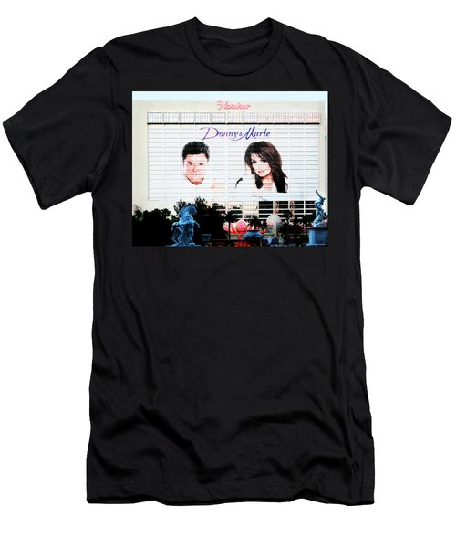 Donny And Marie Osmond Large Ad On Hotel Men's T-Shirt (Athletic Fit)