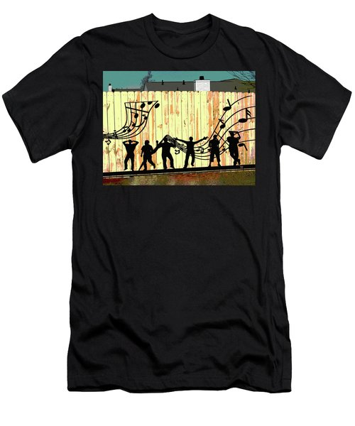 Don't Fence Me In Men's T-Shirt (Slim Fit) by Charles Shoup