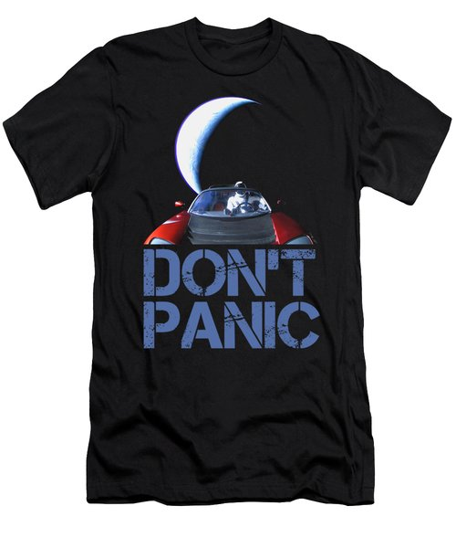 Don't Panic Starman Men's T-Shirt (Athletic Fit)