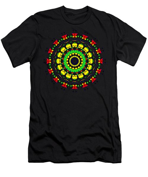 Doodle Mandala Men's T-Shirt (Athletic Fit)