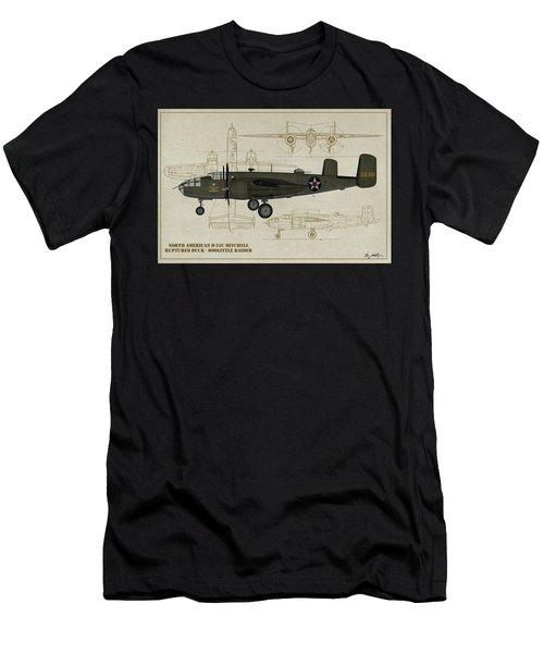 Doolittle Raiders - Ruptured Duck Profile Men's T-Shirt (Athletic Fit)