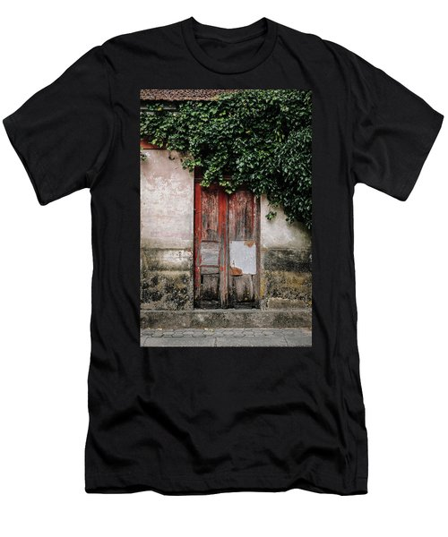 Men's T-Shirt (Slim Fit) featuring the photograph Door Covered With Ivy by Marco Oliveira