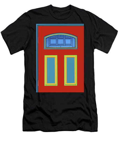 Door - Primary Colors Men's T-Shirt (Athletic Fit)