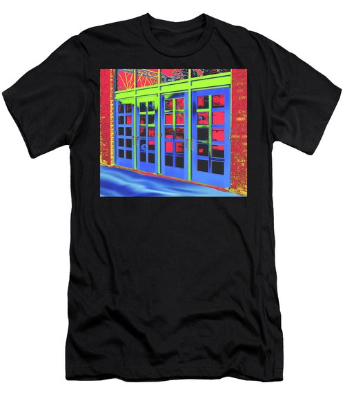 Men's T-Shirt (Slim Fit) featuring the digital art Doorplay by Wendy J St Christopher