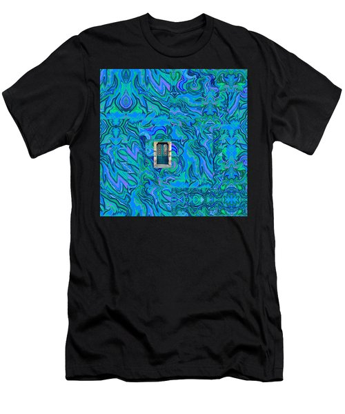 Doorway Into Multi-layers Of Water Art Collage Men's T-Shirt (Athletic Fit)