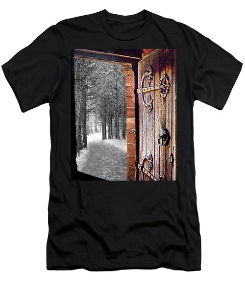 Doorway To Hadrian's Wood Men's T-Shirt (Athletic Fit)