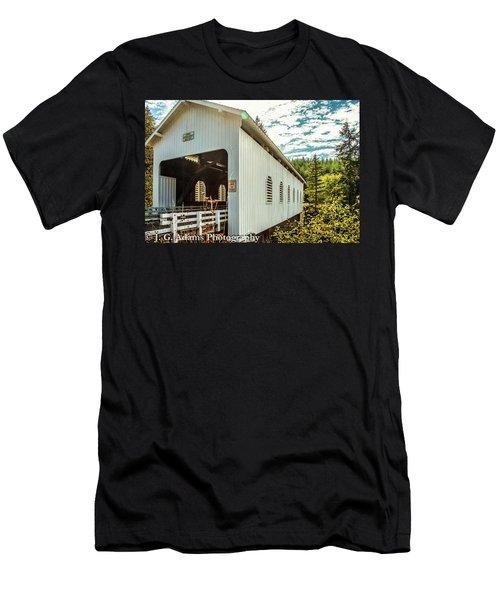 Dorena Covered Bridge Men's T-Shirt (Athletic Fit)