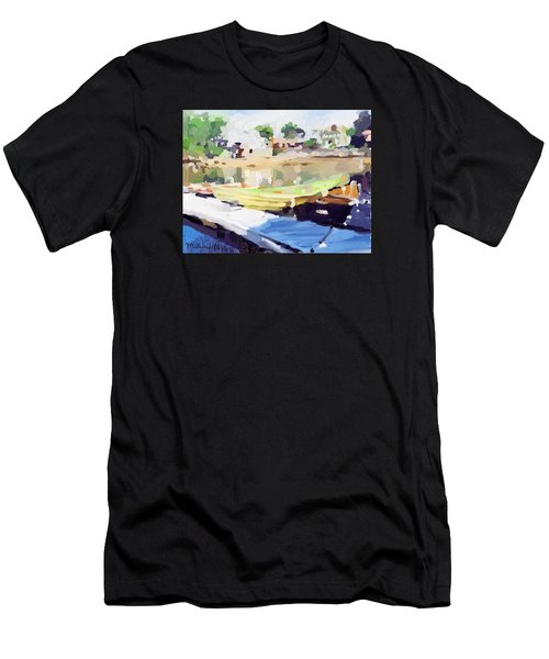 Dories At Beacon Marine Basin Men's T-Shirt (Athletic Fit)