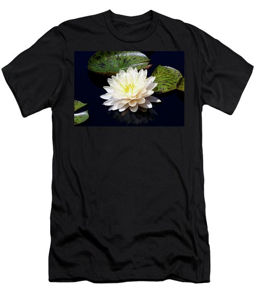 Dotty White Lotus And Lily Pads 0030 Dlw_h_2 Men's T-Shirt (Athletic Fit)