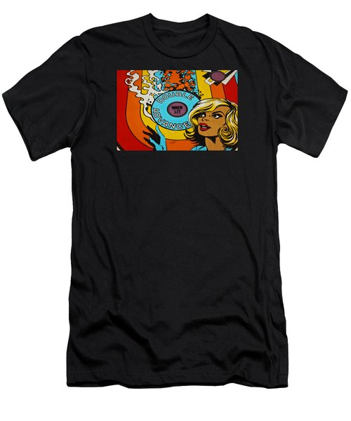 Double Advance - Pinball Men's T-Shirt (Slim Fit) by Colleen Kammerer