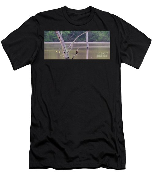 Double Crested Cormorant Men's T-Shirt (Athletic Fit)