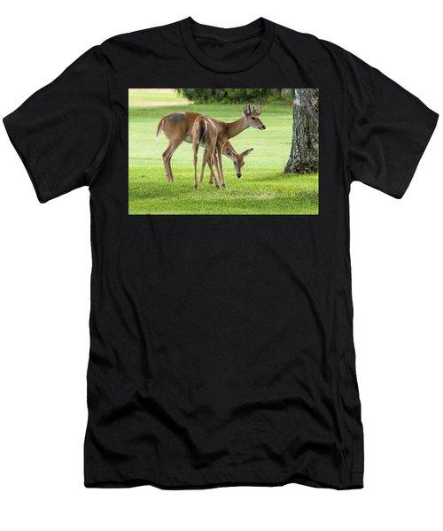 Double Deer Men's T-Shirt (Athletic Fit)