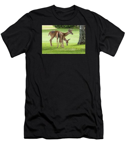 Double Deer Men's T-Shirt (Athletic Fit)