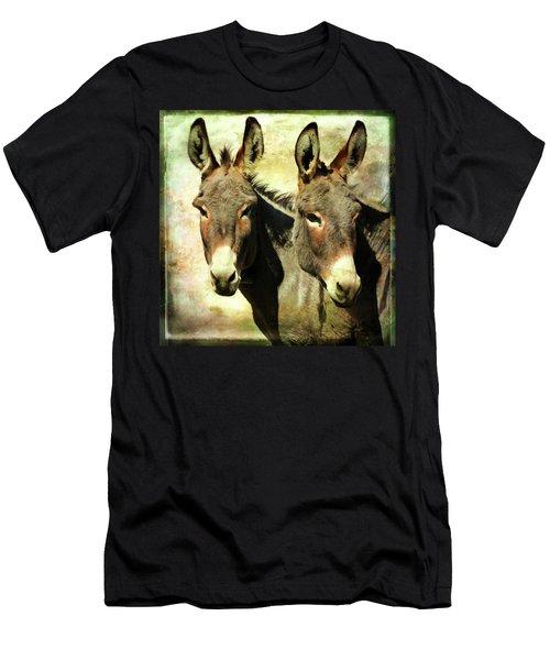 Double Trouble Donkeys Men's T-Shirt (Athletic Fit)