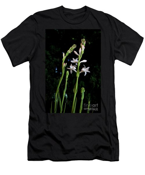 Double Tuberose In Bloom Men's T-Shirt (Athletic Fit)
