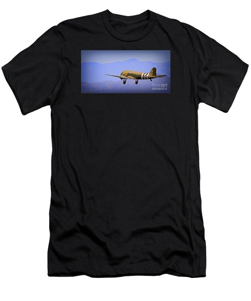 Douglas C-47 Invasion Blues Men's T-Shirt (Athletic Fit)