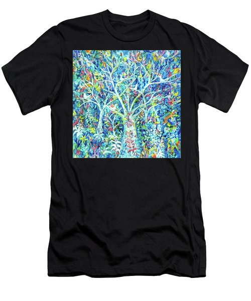 Doves In Trees Men's T-Shirt (Athletic Fit)