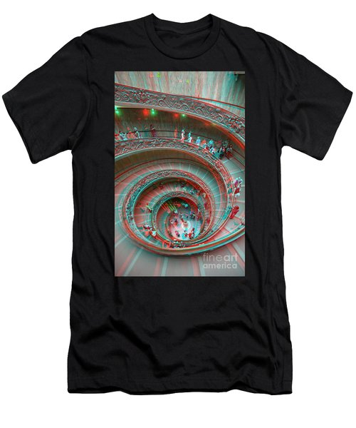Down Stairs Anaglyph 3d Men's T-Shirt (Athletic Fit)